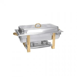 8qt Chafer w Gold Accents
