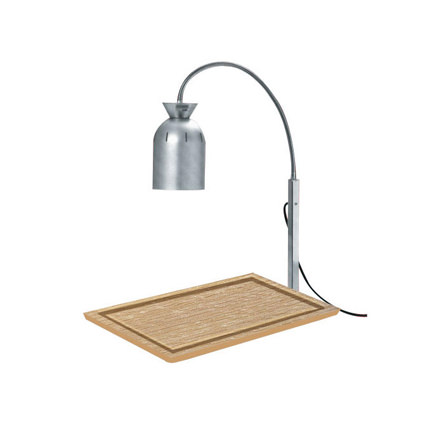 Wood Cutting Board W Heat Lamp Liberty Event Rentals