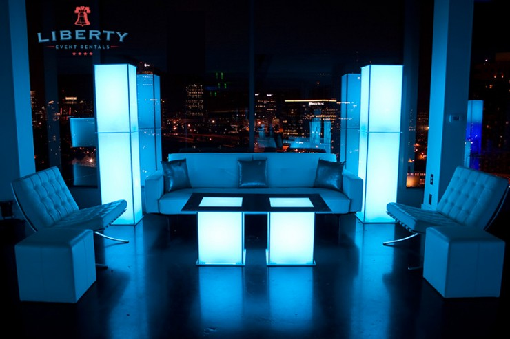 Modern New Years Eve Lounge Furniture Rentals