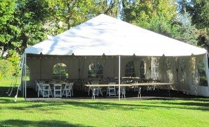 Traditional Frame Tent in Backyard of Merion Home - Liberty Event Rentals