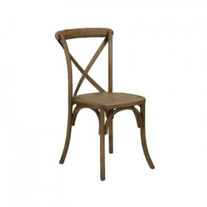 Napa Cross Back Chair (Mahogany) - Liberty Event Rentals