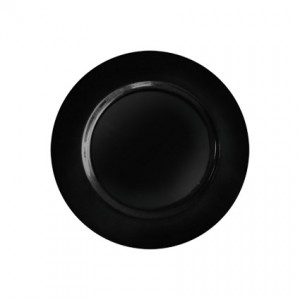 Acrylic Charger Black 13 - Liberty Event Rentals