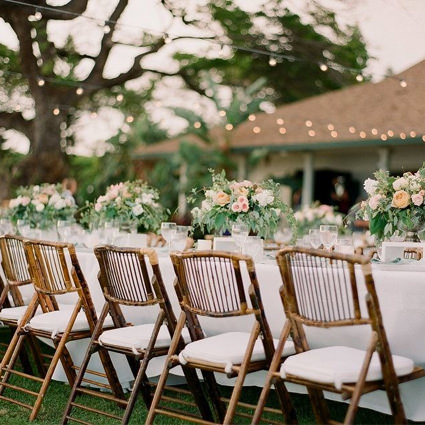 Bamboo Folding Chair (Outside Wedding) - Liberty Event Rentals