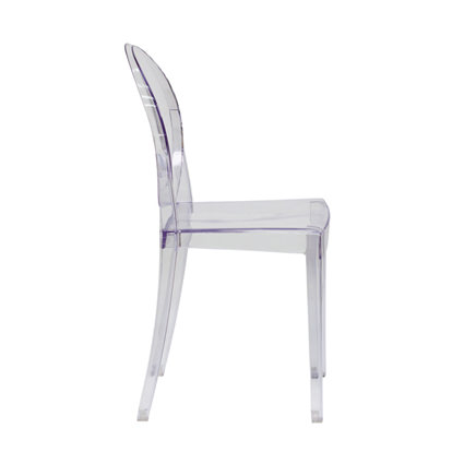 Ghost Chair Armless (Side View) - Liberty Event Rentals