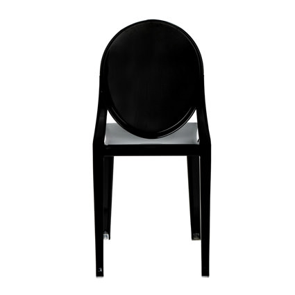 Ghost Chair Black (Back View) - Liberty Event Rentals