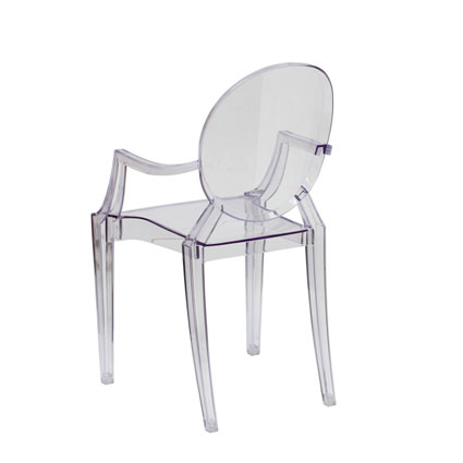 Ghost Chair with Arms (Back View)- Liberty Event Rentals