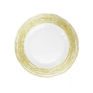 Glass Charger Gold Swirl 13 - Liberty Event Rentals