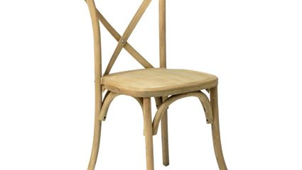 Napa Cross Back Chair (Natural) - Liberty Event Rentals