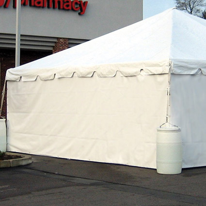 Solid Sidewall Installed - Liberty Event Rentals