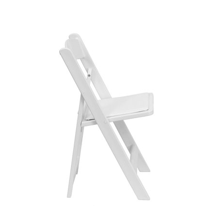 White Padded Chair (Side View) - Liberty Event Rentals