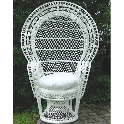 Wick Wicker Baby Shower Chair - Liberty Event Rentals - 2673147368