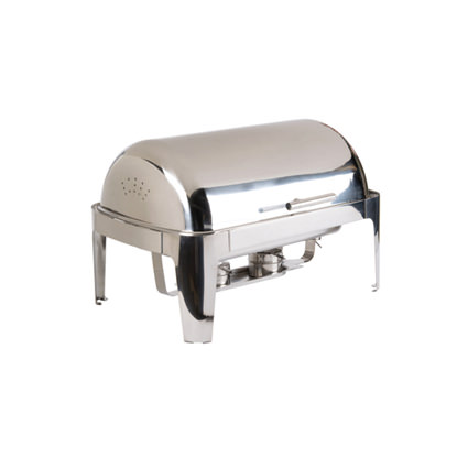 8qt Roll Top Chrome Trim Chafer copy