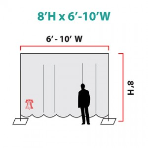 Pipe and Drape Rentals (Size Chart) - Liberty Event Rentals