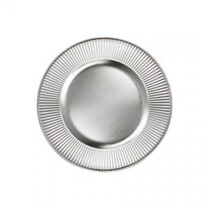 Acrylic Charger Sunburst Silver 13 - Liberty Event Rentals
