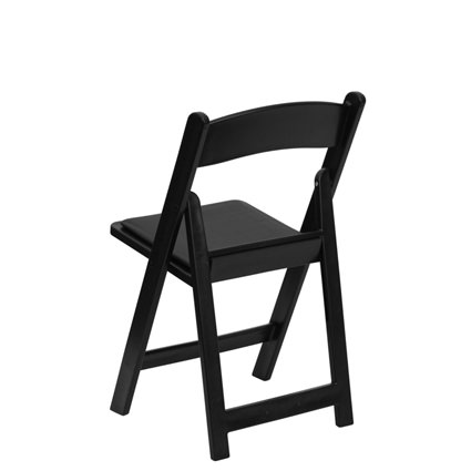 Black Padded Chair (Back View) - Liberty Event Rentals