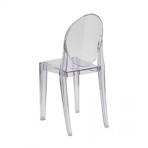 Ghost Chair Armless (Back View) - Liberty Event Rentals