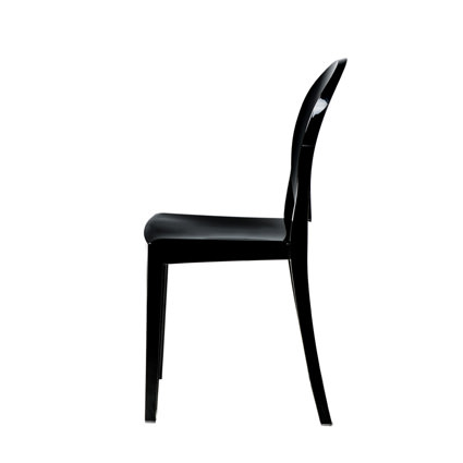 Ghost Chair Black (Side View) - Liberty Event Rentals