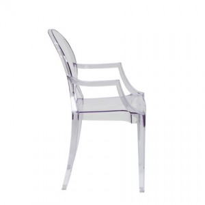 Ghost Chair with Arms (Side View) - Liberty Event Rentals