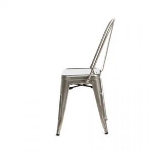 Monroe Gunmetal Chair (Side View) - Liberty Event Rentals