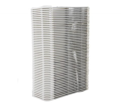 White Folding Chair Aluminum Frame : Stack View - Liberty Event Rentals