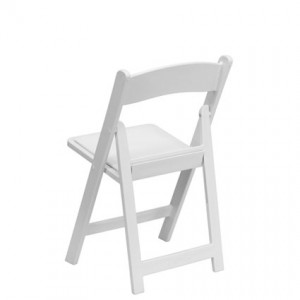 White Padded Chair (Back View) - Liberty Event Rentals