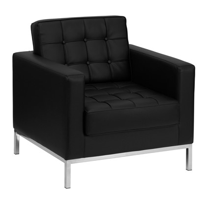 Wonderful Contemporary Black Leather Armchair