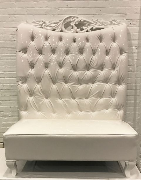 White Frame Throne Bench