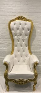 Throne Chair Gold Frame - Liberty Event Rentals