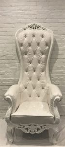 Throne Chair White Frame - Liberty Event Rentals