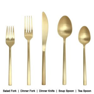 Kennedy Flatware Line Description - Liberty Event Rentals