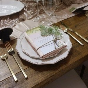 Kennedy Flatware Setup - Liberty Event Rentals
