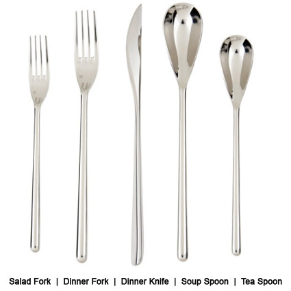 Lincoln Flatware Line Description - Liberty Event Rentals