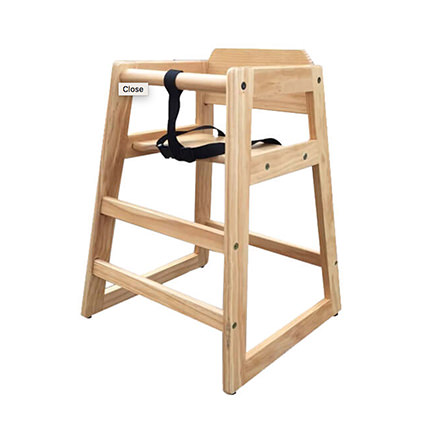 High Chair (Natural Finish) - Liberty Event Rentals